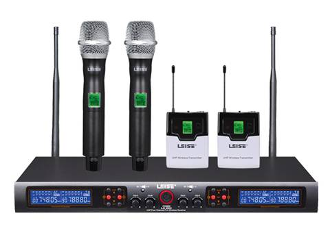 LS-960 Dual Channel Infrared Frequency UHF Wireless Microphone