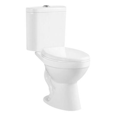 Siphonic two piece toilet s-trap floor mounted toilet for South America