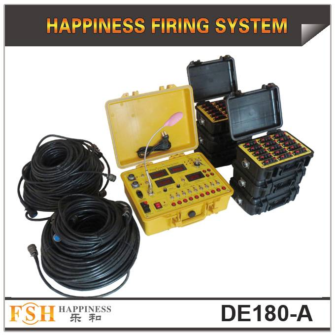 Waterproof case 180 channels Sequential Salvo&Step fire Wire control fireworks firing system(DE180-A