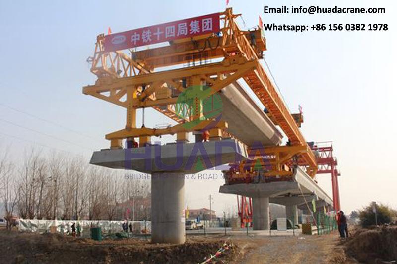 bridge launching girder 180T tube beam launcher crane for erecting concrete girders
