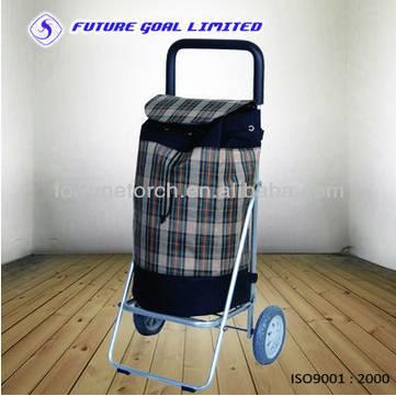 Aluminum folding shopping cart, trolley cart for supermarket,retail shop