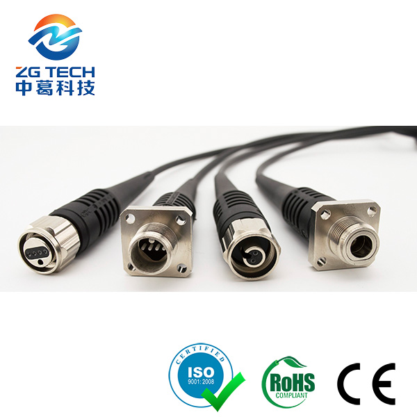FTTA Waterproof 2 or 4 Core ODC to LC with Black TPU outdoor Cable
