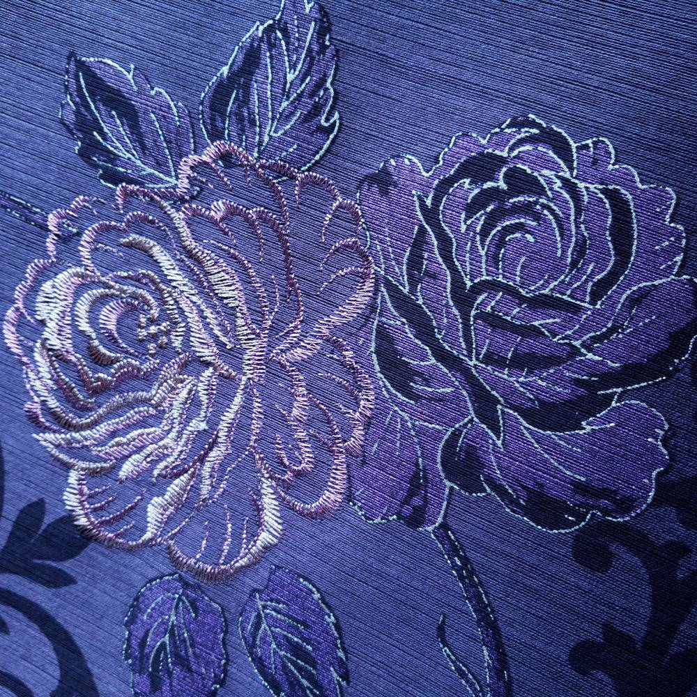 Home Decoration Embroidery Wallpaper Luxury Embroidery Designs Wallcovering