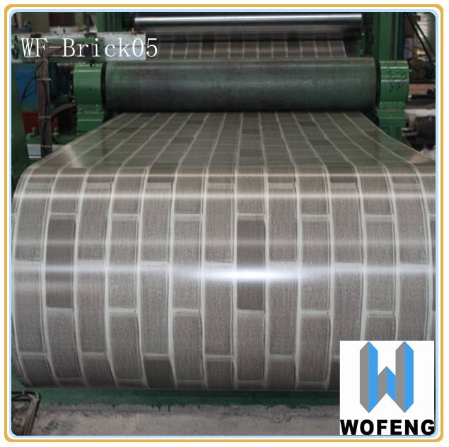 pre-painted brick grain ppgi steel in coil for moveable house