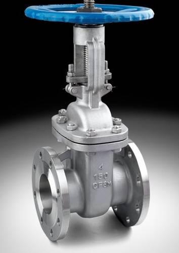 gate valve rising stem flange end
