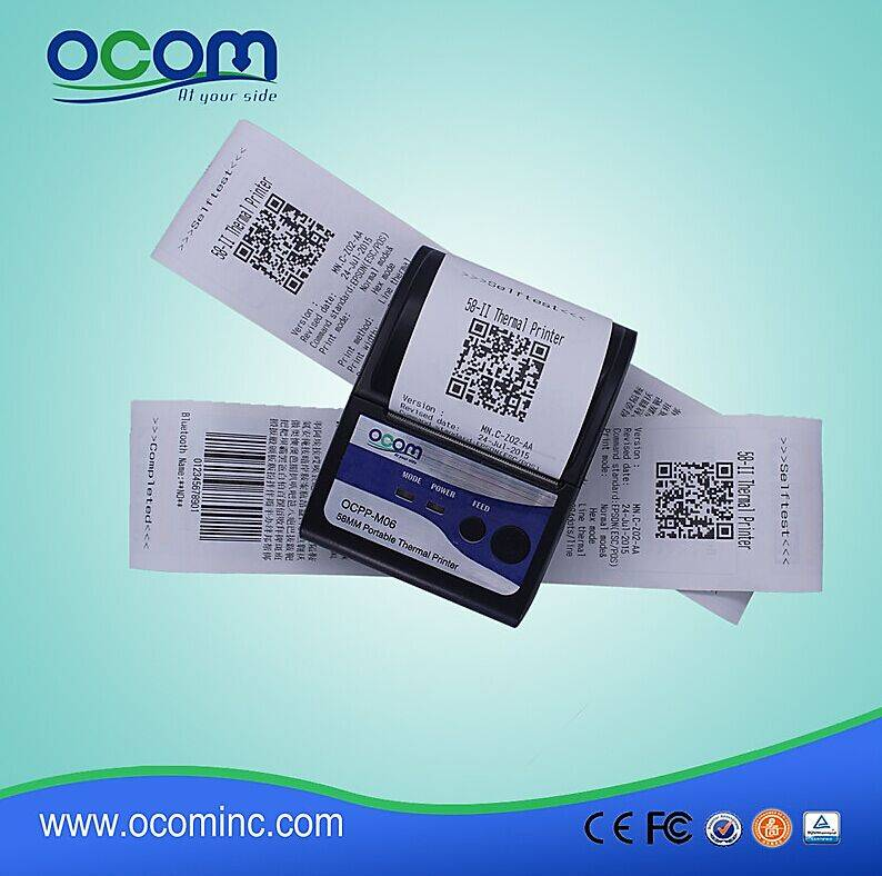 Portable Bluetooth Printer for Taxi system OCPP-M06