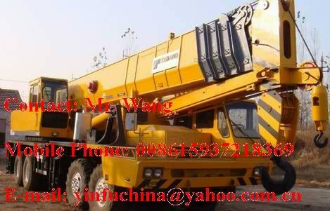 80 tons TADANO truck cranes  (yellow color)
