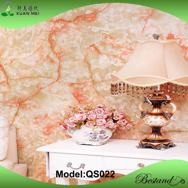 Valuable durable in use XuanMei self adhesive Marble flower design films