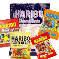 Germany Haribo, Funny Mix, Happy Cola, Golden Bear Gummy Candy, Marshmallow