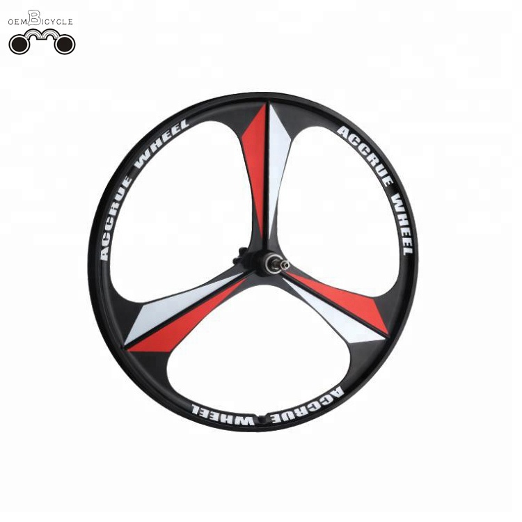 Mag alloy 27.5 inch 3 spoke MTB Disc brake integrated wheel wheelset
