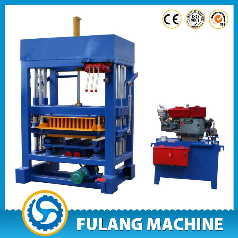 QTF4-28 Fully hydraulic concrete fly ash block making machines fo