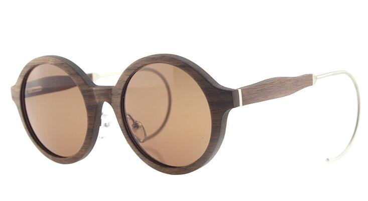 wooden frames sunglasses round unisex styles