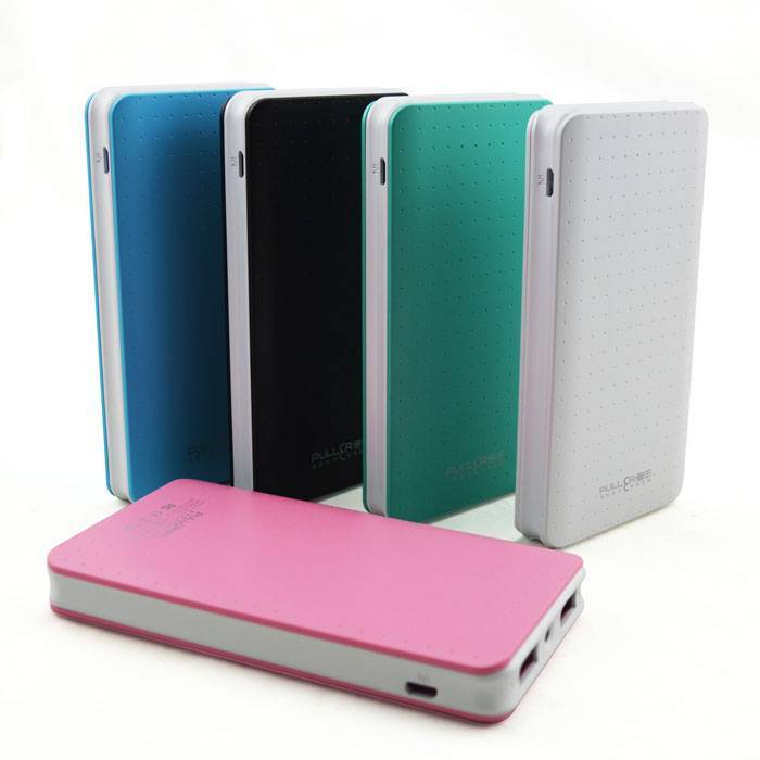 PULLER POWER BANK  8000mAh slim li-polymer portable charger power bank with dual ouputs & LED light