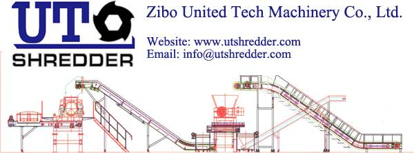 tire recycling system machine