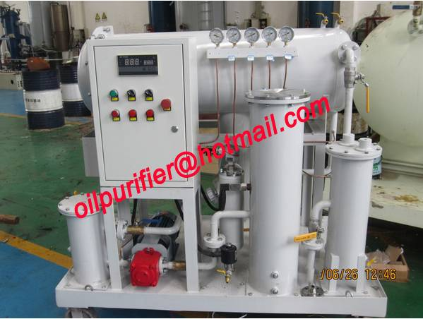 Generator Diesel Oil Purifier, Light Gasoline Oil Filter Machine by coalescence separation,no electr