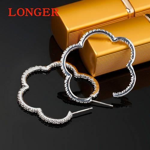 American style inlay AAA zircon earrings earrings for girls