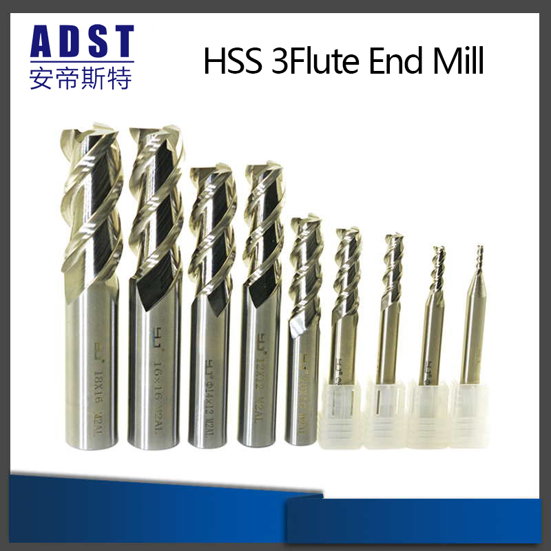 M2ai High Speed Steel 3flute End Mill Cutting Tool