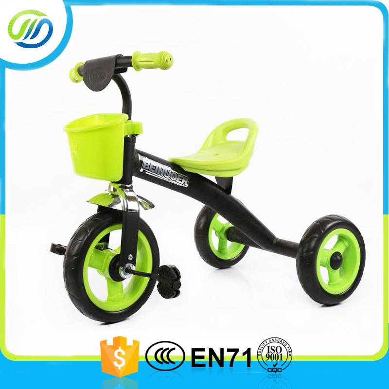 Metal baby tricycle with basket