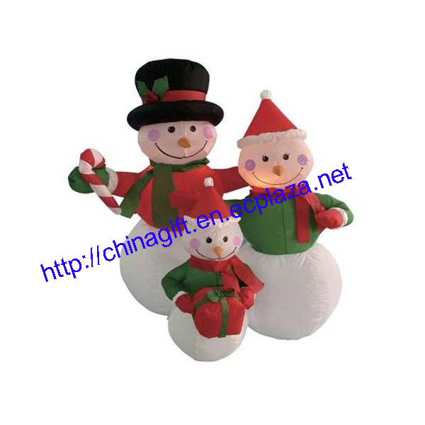 1.2M Inflatable Snowmen Family