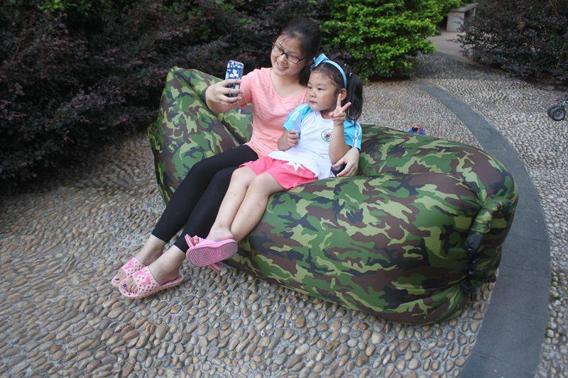 Inflatbale Camo air sleeping bag