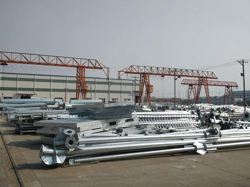 Power Transmission Line tubular steel pole