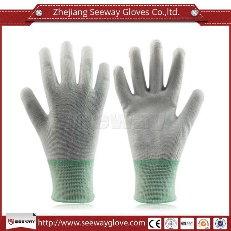 SeeWay 809 Light Weight pu coated on palm nylon working gloves