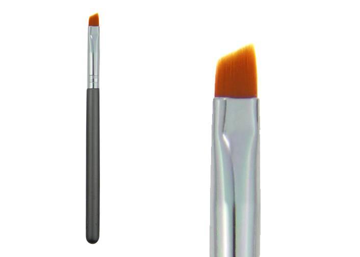 Nylon Hair Eyebrow  Brush /Aluminum Ferrule/yellow color