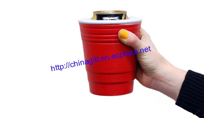 Red Cup Koozie Can Holder