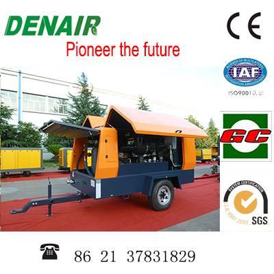 diesel mobile screw air compressor 28m3/min 10bar