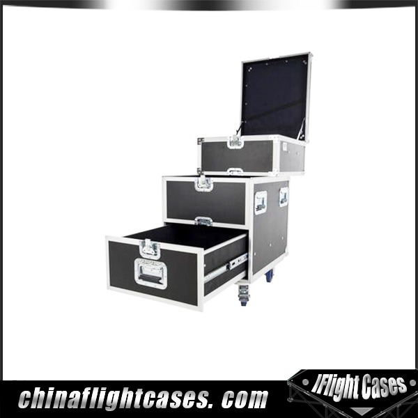 aluminum drawer flight case custom casters stand casters movable