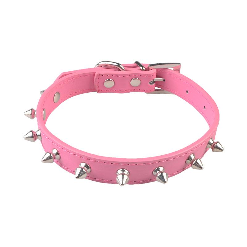 Stud rivet dog collar PU leather with multicolor