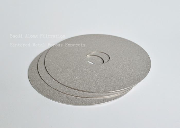 Gas filtration separation porous metal sintered filter media