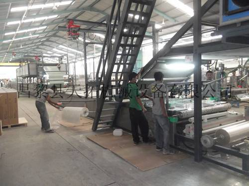 FRP gel coat tile equipment
