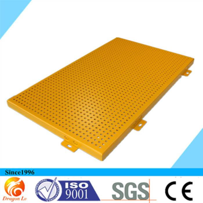 perforated  facade aluminum panel for curtain wall
