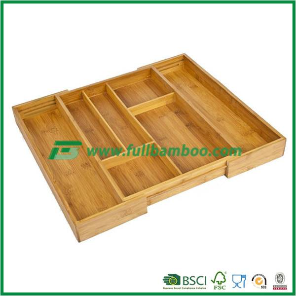 Expandable Bamboo Utensil Tray New model Bamboo Utensil Tray for kitchenware, , Bamboo Utensil tray