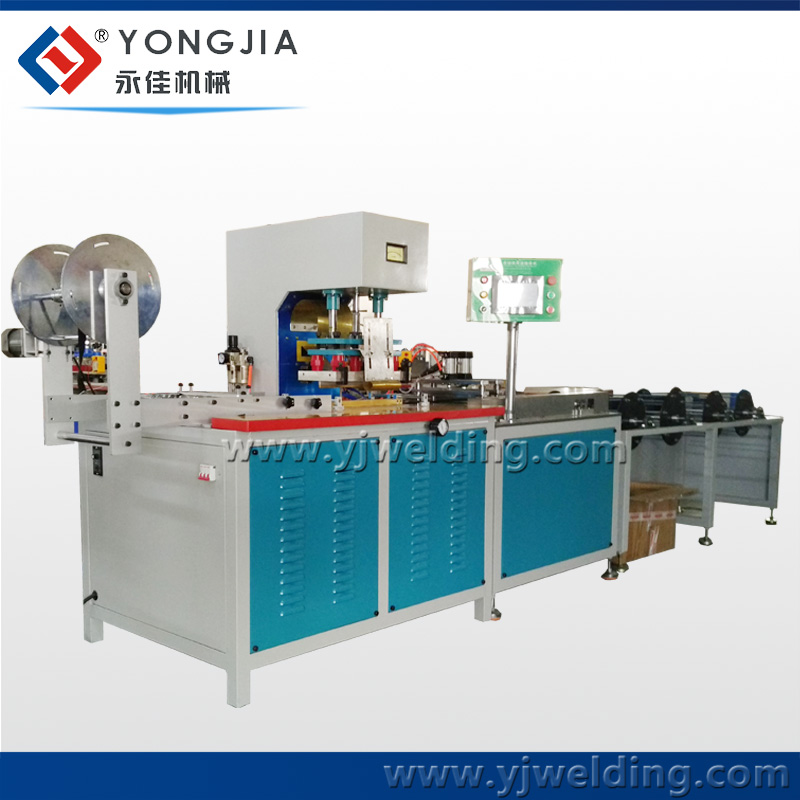 Automatic HF elastic webbing tape logo embossing machine