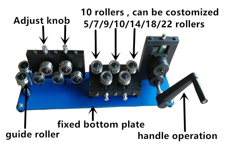high precision 4mm spring steel wire straightening machine with handy