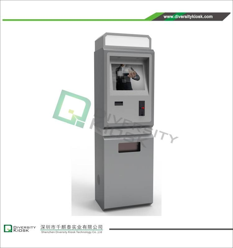 Casino Exchange Kiosk with Bundle Cash and Coin Acceptor