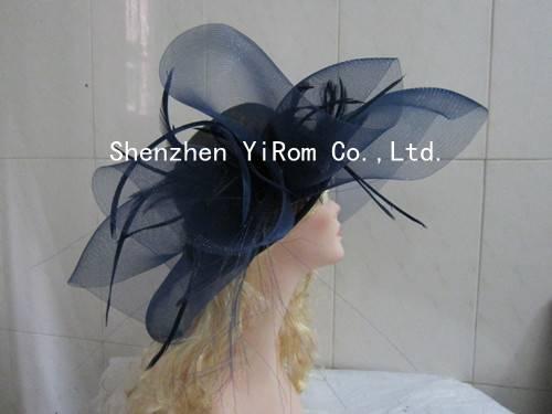 YRSM14083 sinamay hat, church hat, cocktail hat,kentucky derby hat,race hat