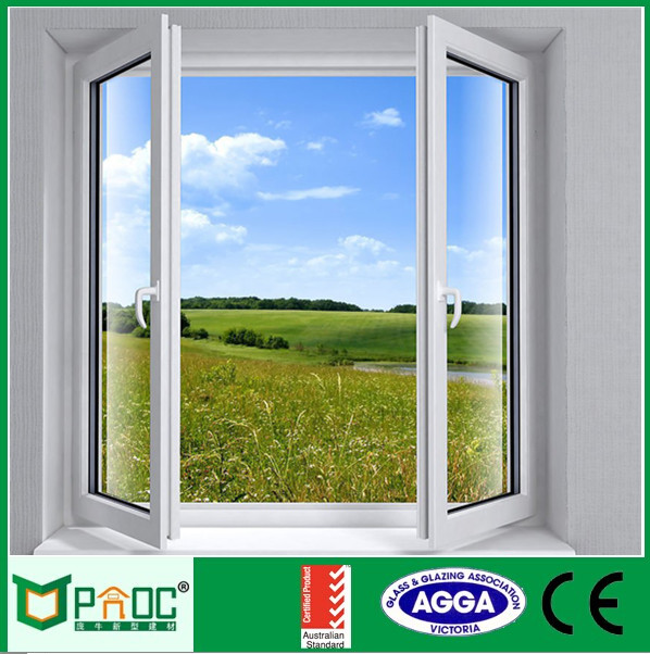 factory building thin blind aluminum casement window