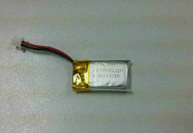 li-polymer battery 80mAh 051220 for 3D glass