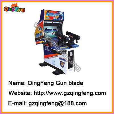 Simulator shooting game machines