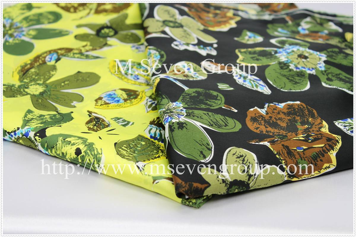 Top selling model for Milano Unica!Chiffon floral printed fabric in 100% polyester fabric