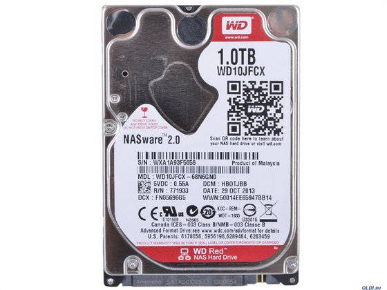 "Western Digital WD10JFCX WD Red 1TB 2.5"" Internal HDD NAS Mobile Hard Drive Disk"