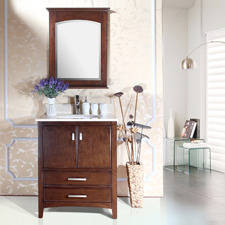 Bathroom Vanity Antique Espresso Bathroom Furniture with Ceramic Sink