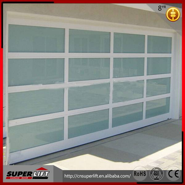 Aluminum glass transparent garage door