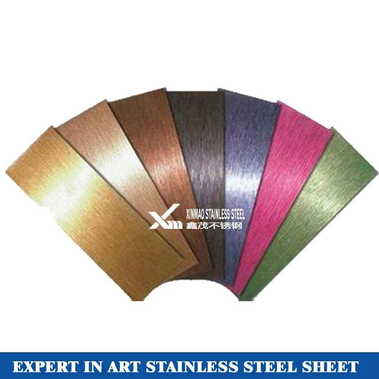 304 decorative stainless steel hairline sheets