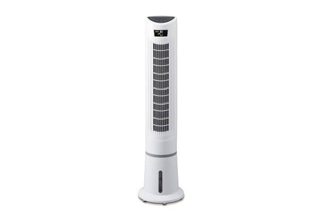 Stand tower air cooler with 80 osc, 9h timer and doubel air filter