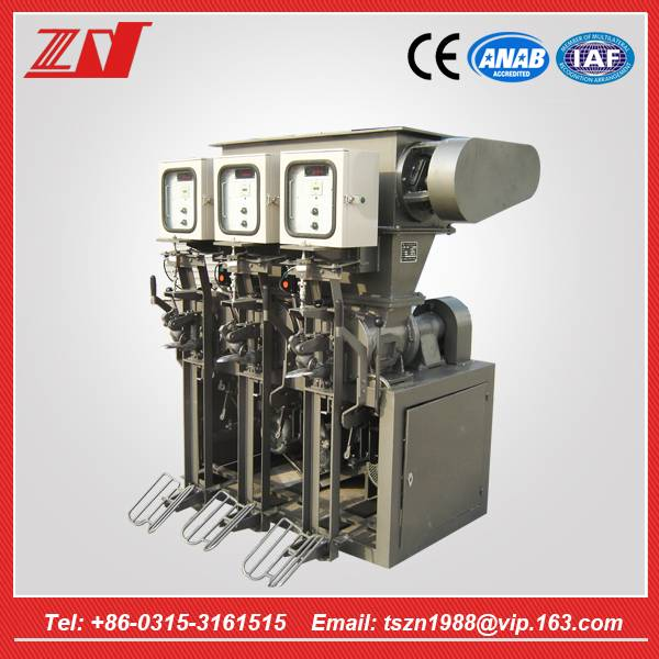 New Filling machines type semi automatic electric 3 head cement powder filling machine/equipement