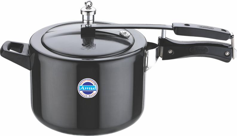 Hard anodized inner lid cooker